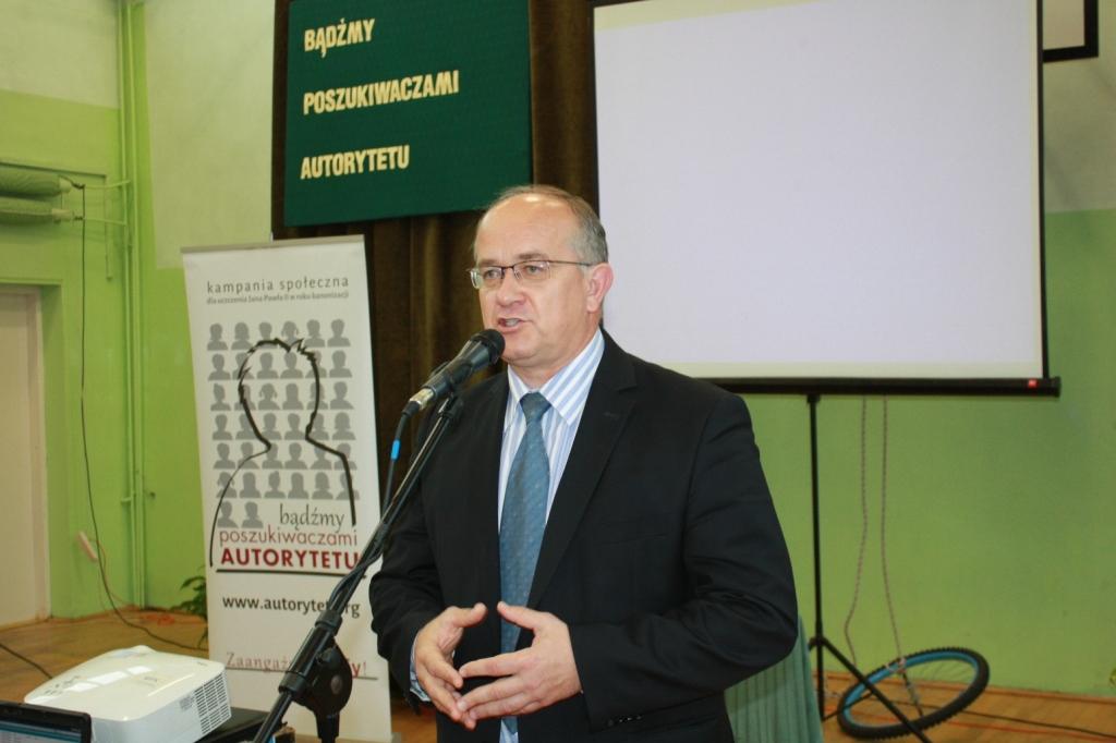Burmistrz Gorlic - pan Witold Kochan