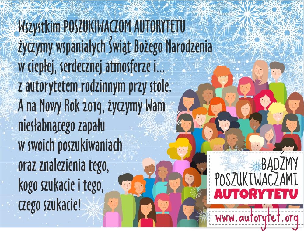 Najlepsze życzenia Świąteczne i Noworoczne dla POSZUKIWACZY AUTORYTETU!